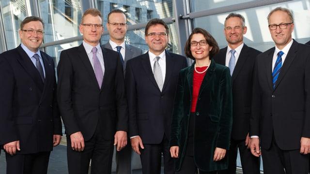 Die sieben Zuger Regierungsräte.