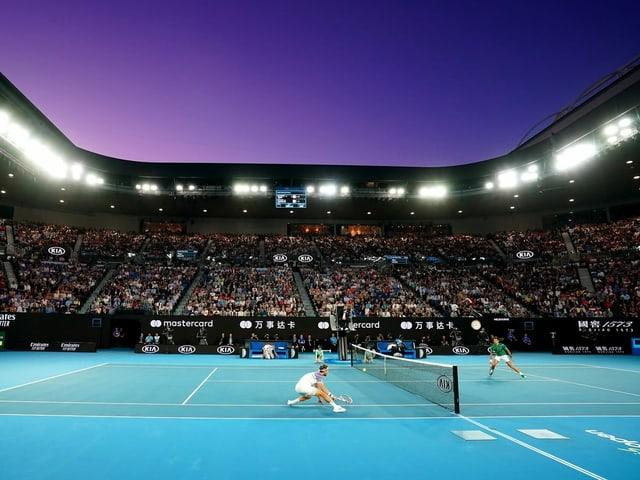 Der Final zwischen Thiem und Djokovic im vergangenen Februar.