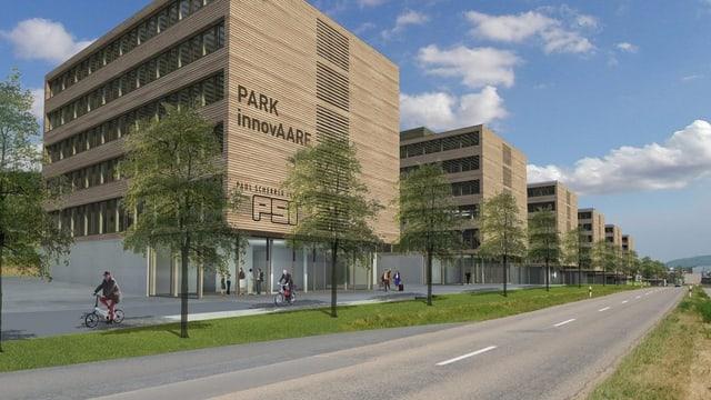 Visualisierung des geplanten Innovationsparks in Villigen, Aargau.