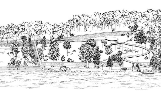 Plan für Erweiterung des Bärenparks.