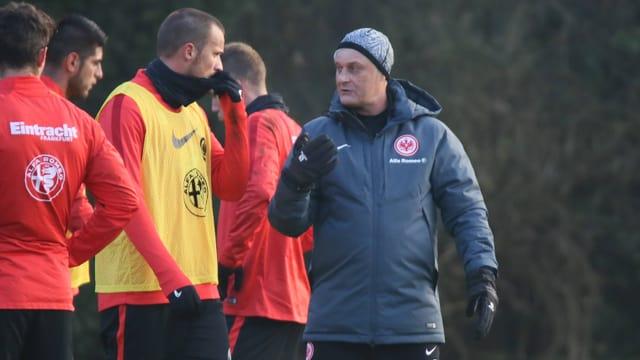 Haris Seferovic und Armin Veh.