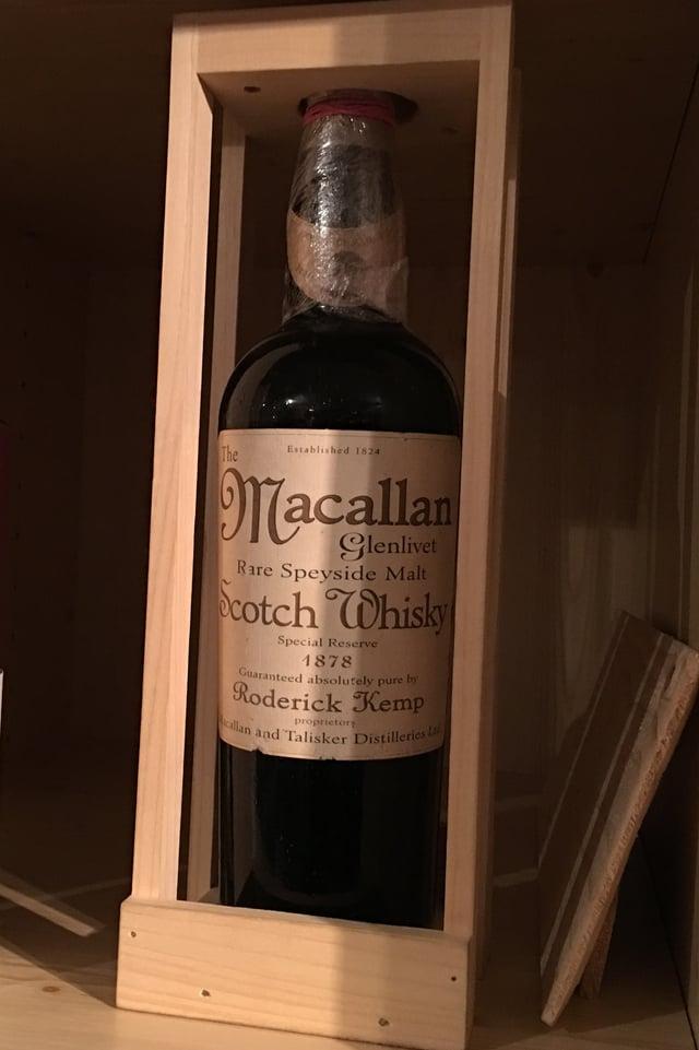 Eine Flasche Macallan von 1878.