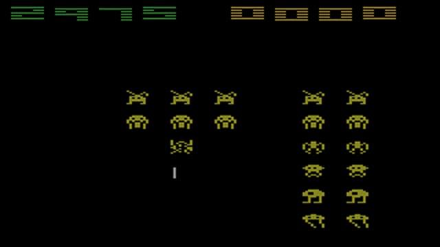 Space Invaders, wo Raumschiffe Aliens abschiessen