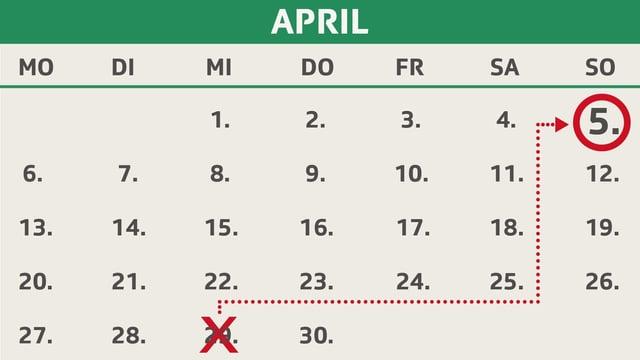 Ein Kalender.