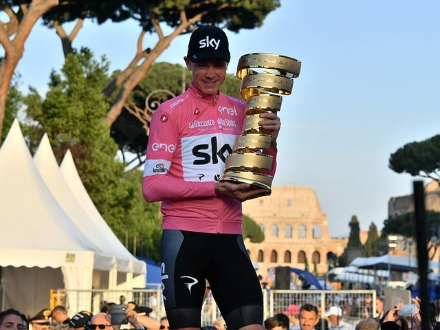 Chris Froome als Giro-Sieger in Rom.