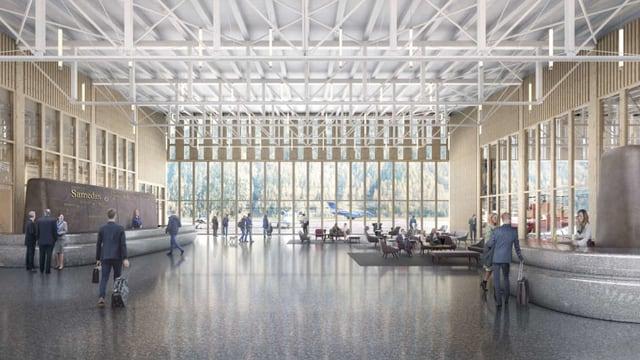 Visualisierung des geplanten Flughafen Samadan
