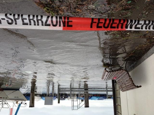 Ganze Teile des Hafens Rorschach sind wegen Hochwassers abgesperrt.
