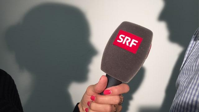 MIkrofon und Schatten.