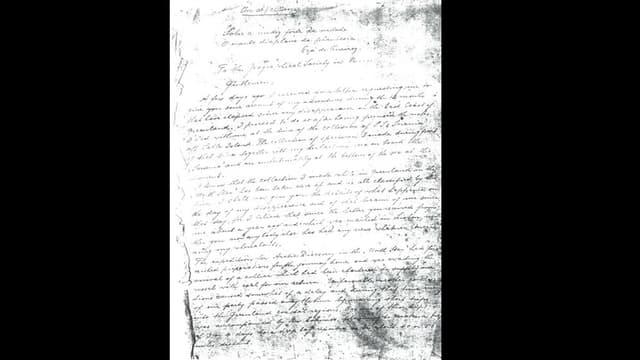 Eine Seite des Manuskripts