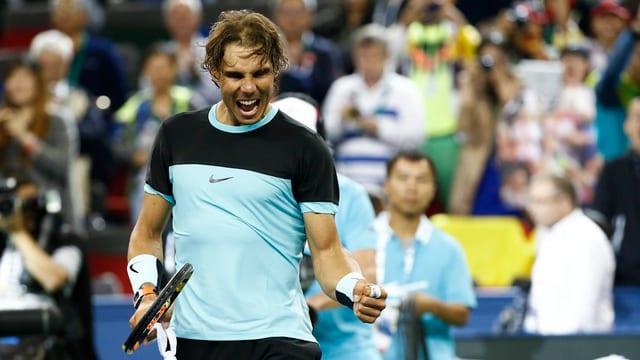 Rafael Nadal ballt nach einem Sieg die Faust.