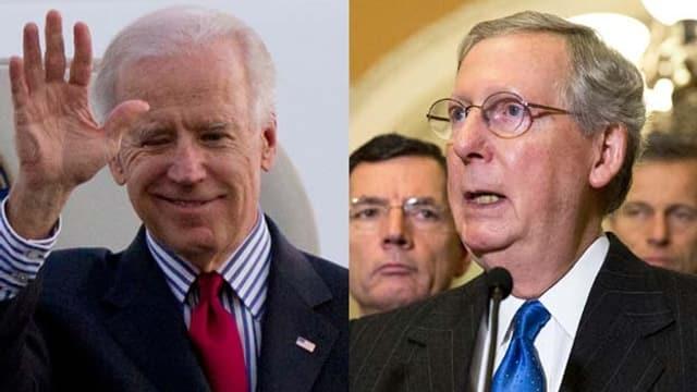 Joe Biden (l.) und Mitch McConnell im Porträt nebeneinander (reuters/archiv)