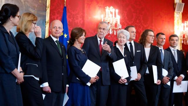 Das Kabinett bei seiner Einweihung in Wien.