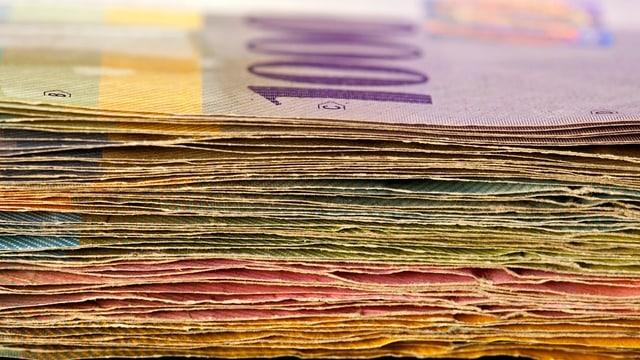 Ein Bündel Geldscheine.