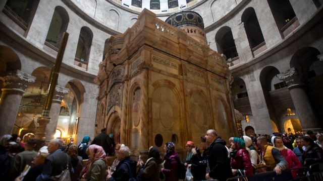 Die Grabeskirche in Jerusalem.