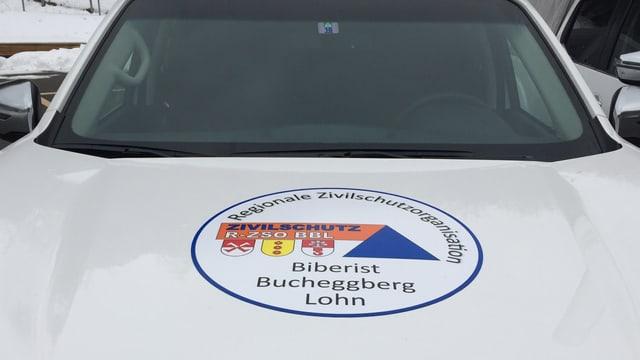 """Auto mit der Aufschrift """"Regionale Zivilschutzorganisation Biberist Bucheggberg Lohn"""""""