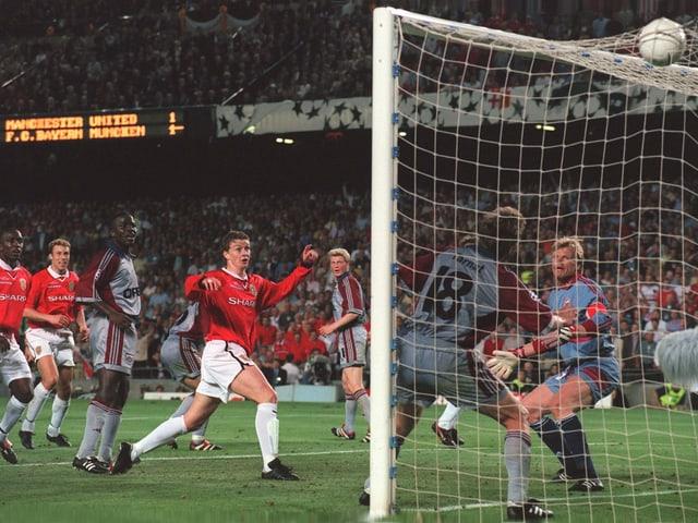 Ole Gunnar Solskjaer trifft 1999 im Champions-League-Final gegen die Bayern in der 93. Minute ins Schwarze.