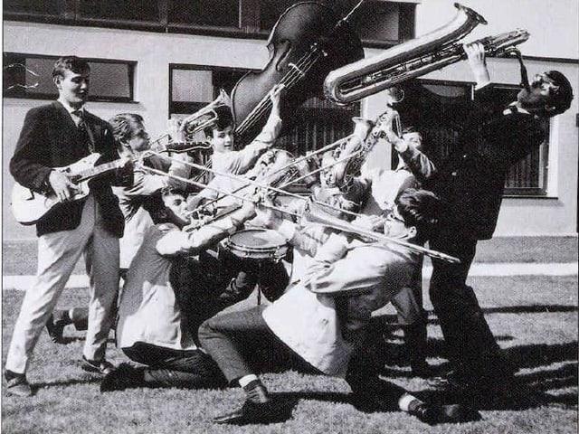 Schwarzweissfotografie. Pepe und seine Freunde im Teenageralter.