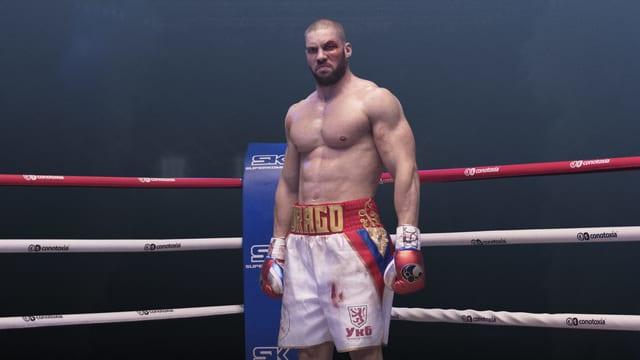 Ivan Drago (Florian Munteanu) im Boxring.