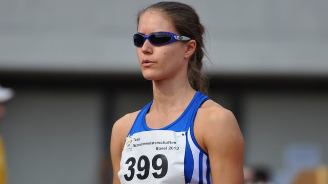 Die Vize-Schweizermeisterin 400m Hürden: Robine Schürmann.