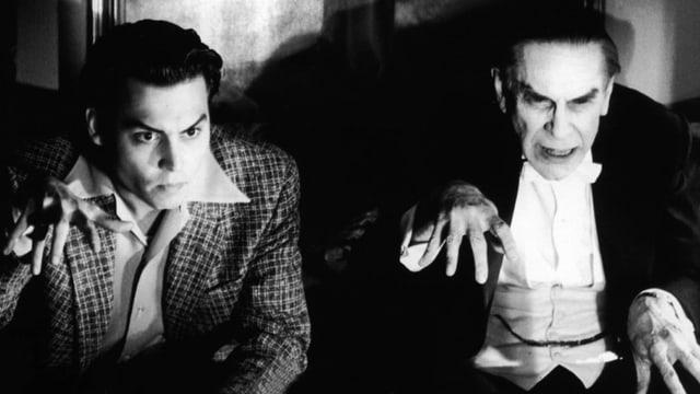 Johnny Depp und Martin Landau.