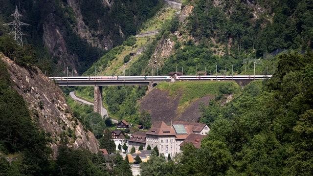 Die Gotthard-Bergstrecke der SBB