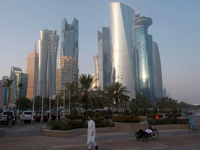 Strassenszene in Doha.