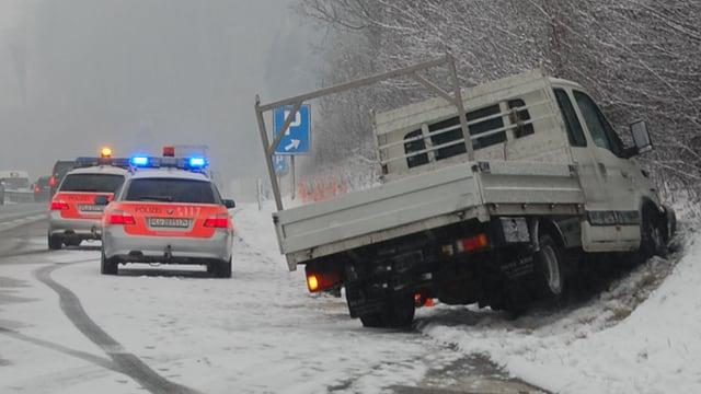 Unfall mit Lieferwagen