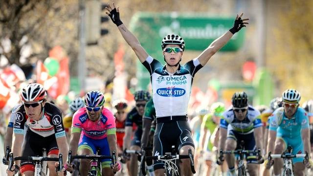Die erste Etappe der Tour de Romandie gewann der Belgier Gianni Meersmann. Das Ziel der zweiten Etappe ist in Grenchen.