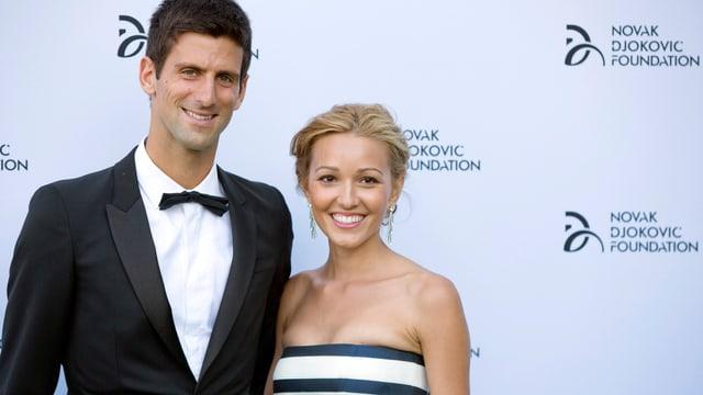 Novak Djokovic und seine Jelena