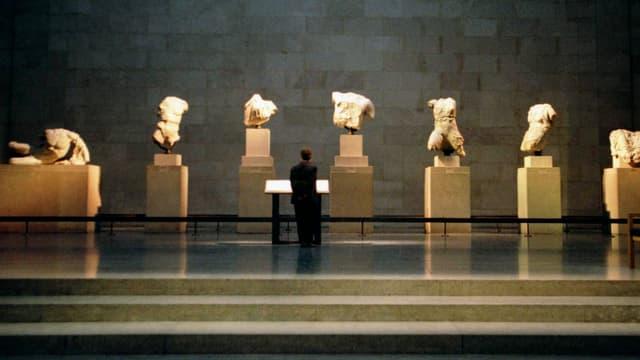 Eine Ausstellung im britischen Museum mit Steinbüsten aus Griechenland.