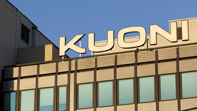 Kuoni-Logo am Hauptsitz in Zürich
