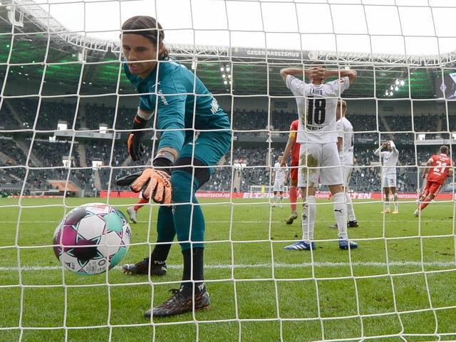 Yann Sommer kommt mit Gladbach nicht über ein 1:1 gegen Union Berlin hinaus.