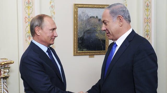 Treffen in Moskau: Russlands Präsident Putin (li) und Israels Premier Netanjahu