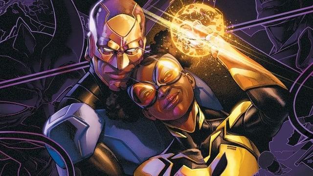 Ein afroamerikanisches Superheldenpärchen