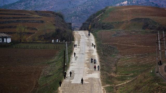 Ein Strasse bei Kaesong