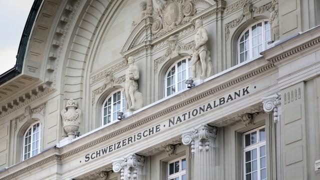 Fassade des SNB-Gebäudes in Bern