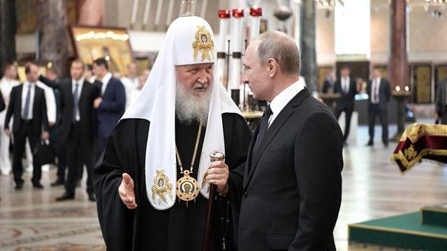 Putin mit dem Patriarchen Kirill, 30. Juli in St. Petersburg