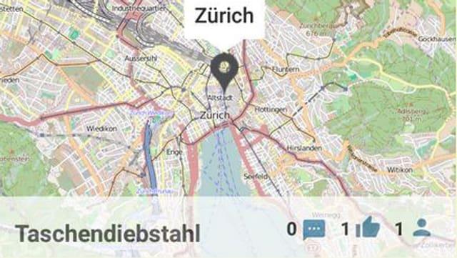 Ausschnitt aus der ETH App.