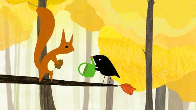 Video «Der kleine Vogel und das Eichhörn» abspielen