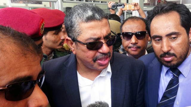 Jemens Ministerpräsident Chaled Bahah, hier nach seiner Ankunft in Aden.