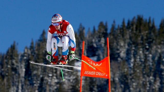 Il skiunz Thomas Tumler en acziun.