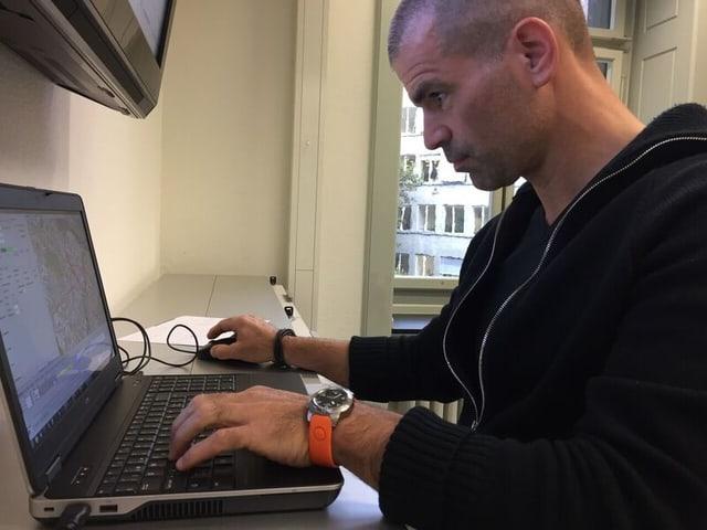 Dominik Balogh, Chef Analyse und Entwicklung der Stapo Zürich.