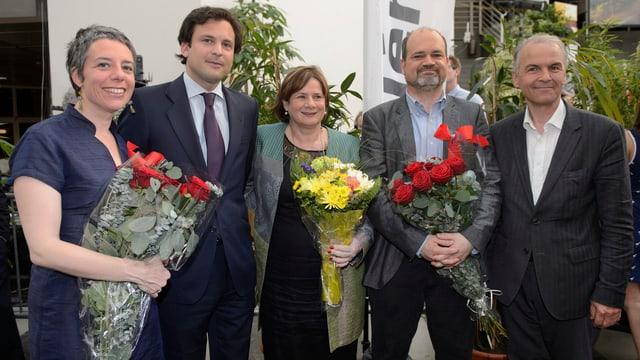Wiedergewählte Genfer Stadtregierung nach der Wahl