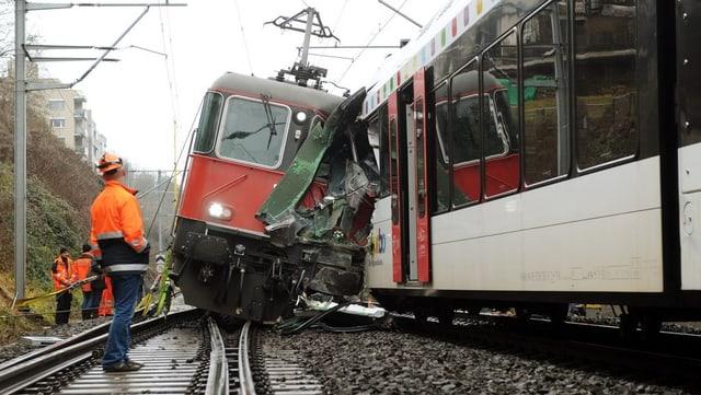 Der Bahnunfall in Neuhausen am 10. Januar 2013.