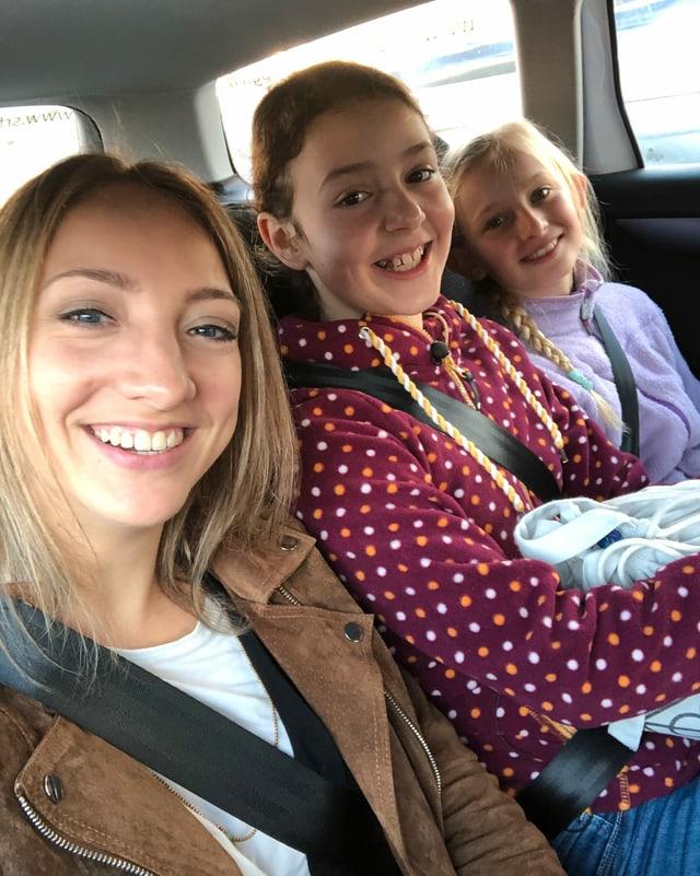 Selfie von Anna, Luna und Oona.