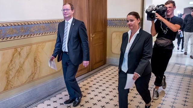 Regierungsräte Walter Schönholzer und Carmen Haag