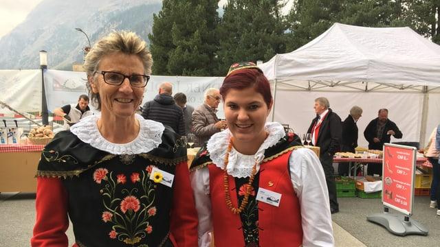 Purtret  Johanna Schnitzler e Carla Planta