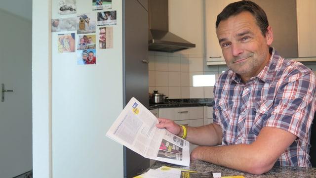 EVP-Grossrat Ruedi Löffel in seiner Küche