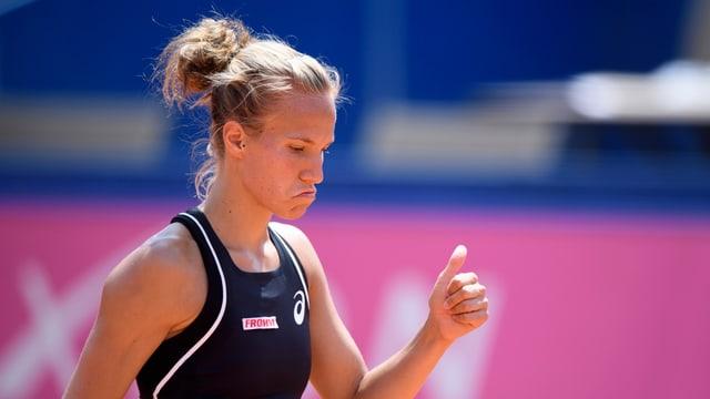la giugadra da tennis svizra Viktorija Golubic