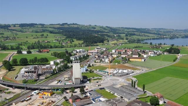 Blick auf Sempach Station.